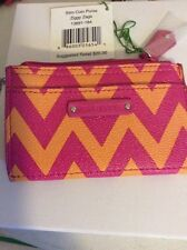 Vera Bradley Ziggy Zags Slim Coin Purse $20