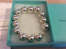 NEW Tiffany & Co. Sterling Silver Extra X Large Huge 14 mm Bead Ball Bracelet