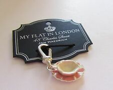 Brighton My flat In London TEA FOR YOU charm tea cup white pink Drink More Tea