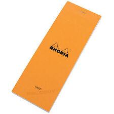 Rhodia Almohadilla de recarga de lista de compras Naranja Forrado portátil Shopper Nota Memo Jotter