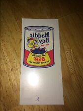 TOPPS WACKY PACKAGES OLD SCHOOL 5 5th SERIES MADDIE BOY DOG FOOD 3 BEEF CLASSIC