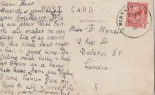 CLANDEBOYE CAMP : 1918 Rubber Ring cancel on picture postcard