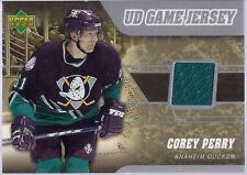COREY PERRY 2006-07 Upper Deck Hockey UD GAME JERSEY Card Anaheim DUCKS