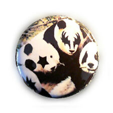 Badge KISS'PANDAS funny kawaii retro rock vintage 80's pop pins button Ø25mm