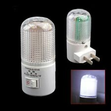 AC Powered 6 LED Wall Plug-in Bright White Light Night Light Lamp