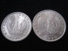 MDS GRIECHENLAND 10 UND 20 LEPTA 1973