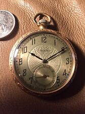antique elgin pocket watch 15 Jewel Monogram A.R.H. 1927 Double Rolled Gold Case