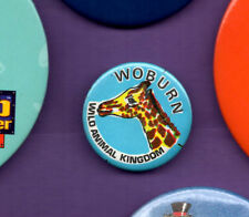 Woburn Wild Animal Kingdom - Giraffe -  Button Badge 1980's