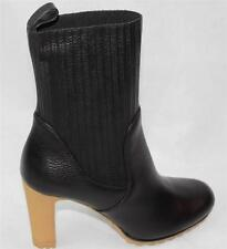 AUTH $1150 Gucci Women Black High Heel Boots 36