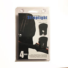 4 STRAPTIGHT BLACK GUITAR STRAP LOCKS ACCESSORIES