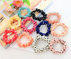 Fashion 10pcs Lots Sweet Girls Womens Elastic Hair Band Hairband Ponytail Holder