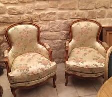 Fine Quality Pair of French Louis XV Style Vintage Bergere Arm Chairs