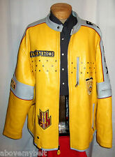 """AVIREX """"RACING"""" LEATHER  Jacket/Coat***6XL***$800***Better Than EXCELLENT!"""