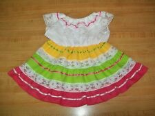 """16"""" CPK Cabbage Patch Kids PINK + LIME  MEXICAN FIESTA PARTY DRESS CINCO DE MAYO"""