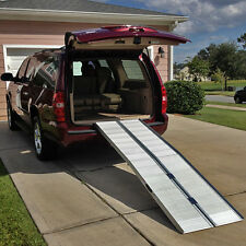7' Wheelchair Scooter Folding Aluminum Portable Carrier Ramp: 6 8 van handicap