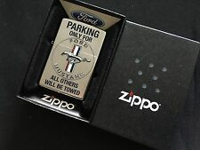 New Ford Mustang Parking Only Zippo Lighter RARE