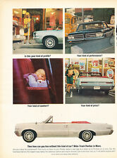 1964 Pontiac LeMans Convertible white - Original Car Advertisement Print Ad J134