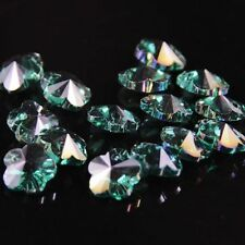 12pcs Swarovski 8mm plum blossom shape Crystal beads A Peacock green