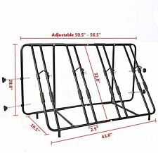 Adjustable Truck Pick Up Bed Mount  Bike Carrier Four Bicycle Rack Compact New