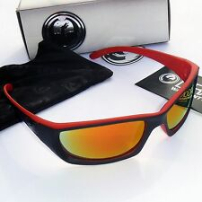 Dragon Chrome SE Sunglasses-Matte Black & Red Frame/Red Ion Lens  720-2185 - NEW