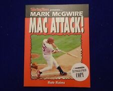 "ROB RAINS ""MARK McGUIRE: MAC ATTACK"" SIGNED AUTOGRAPHED BOOK"
