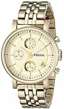 Fossil Women's ES2197 Gold-Tone Stainless Steel with Link Bracelet Watch