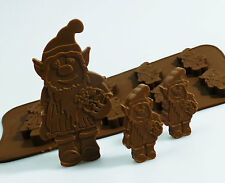 6+1 Gnome Irish Leprechaun Chocolate Candy Silicone Bakeware Mould Wax Crayons