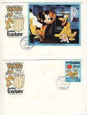 2 Disney Pluto 50 Anniversary First Day of Issue Covers - 1980 Togolaise FDC