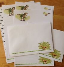 Jurassic Dinausors Letter Writing Paper Set stationery with matching envelopes