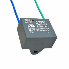 HQRP Capacitor for Harbor Breeze Ceiling Fan 10uf 2-Wire CBB61 Replacement