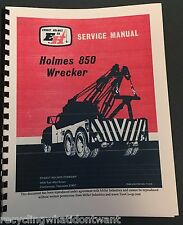 Ernest Holmes Wrecker 850 tow truck Service Manual Heavy Wrecker Towing &Recover