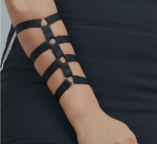 Ringed armlet arm cage harness (SINGLE, Gothic Goth, Burlesque  fetish pentagram