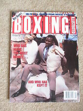 NOVEMBER 1991 BOXING ILLUSTRATED  MAGAZINE HOLYFIELD  COVER