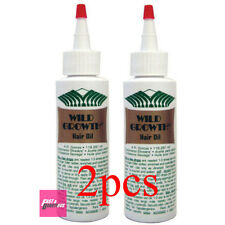 2 X WILD GROWTH OLIVE  JOJOBA & COCONUT HAIR OIL DETANGLER & EXTENDER 4 oz
