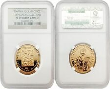 Poland 2009MW 1989 General Elections 200 Zlotych Gold NGC PF69 ULTRA CAMEO