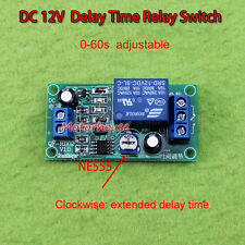 0-60 Second Delay Time Switch 1 Minute Adjustable DC12v NE555 Timer Relay Module