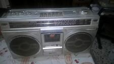 GETTO BLASTER SANYO AMZZ BOOMBOX STEREO RADIO CASSETTE PLAYER VINTAGE ANNI 80