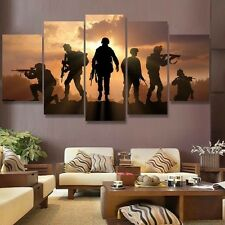 Large Framed American Soldiers Sunset Print Home Decor Wall Art Poster
