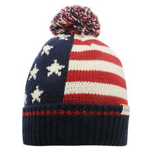 MENS SOULCAL STARS STRIPES USA AMERICA WOOLLY KNIT KNITTED SKI SKIING BOBBLE HAT