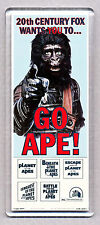 GO APE! LARGE movie poster 'wide' FRIDGE MAGNET  - PLANET OF THE APES CLASSIC !