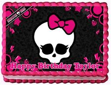 MONSTER HIGH EDIBLE CAKE TOPPER BIRTHDAY DECORATIONS