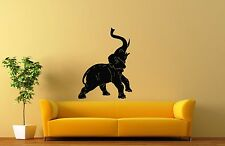 Wall Stickers Vinyl Decal African Elephant Animal Nature Circus Flora ig143