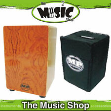 New MP Cajon Drum - Drummers Wooden Rhythm Box with Carry Bag - Rosewood Veneer