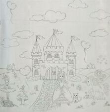 Color Me A Royal Life Princess Castle Hayley Crouse Michael Miller Fabric Panel