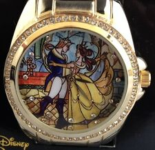NEW DISNEY BEAUTY AND THE BEAST BELLE & PRINCE STAINED GLASS GEM ACCENTS WATCH