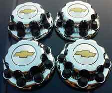 4 New Chevy Express Van 2500 3500 CHROME Center Hub Caps 9597163 8 LUGS CAPS SET
