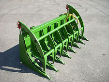 "John Deere Compact Tractor Attachment - 72"" Root Rake Clam Grapple - Ship $199"