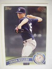 CONOR MULLEE RC 2011 Topps Pro Debut baseball card #69 YANKEES ST PETERS HOT QTY