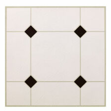 Max KD0309 Black & White Peel & Stick Vinyl Floor Tile, 12 x 12-In. - Quantity 1
