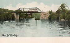 Trolley Crossing the Bridge in Weirs NH Postcard